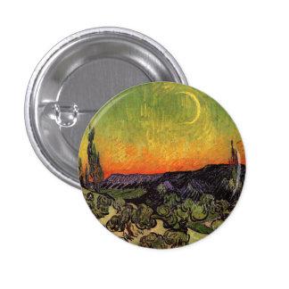 Vincent Van Gogh Moonlit Landscape 3 Cm Round Badge