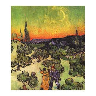 Vincent Van Gogh Moonlit Landscape Gallery Wrap Canvas