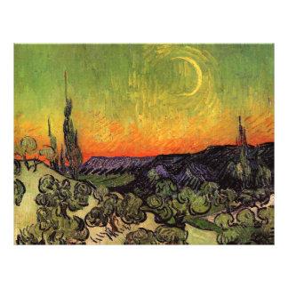 Vincent Van Gogh Moonlit Landscape Flyer