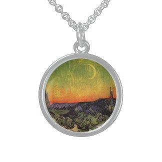 Vincent Van Gogh Moonlit Landscape Sterling Silver Necklaces