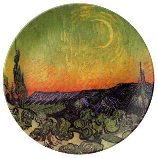 Vincent Van Gogh Moonlit Landscape Plate