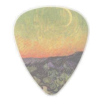 Vincent Van Gogh Moonlit Landscape Polycarbonate Guitar Pick