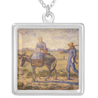 Vincent van Gogh | Morning, going out to work Silver Plated Necklace