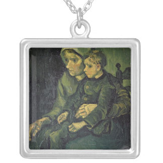 Vincent van Gogh | Mother and Child, 1885 Silver Plated Necklace