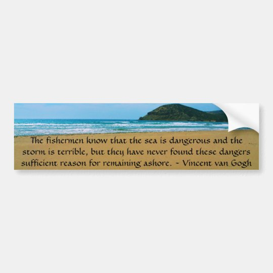 Vincent van Gogh motivational quote Bumper Sticker