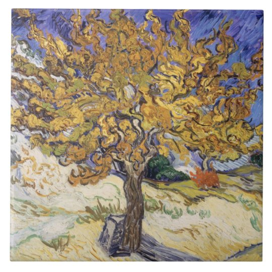 Vincent van Gogh | Mulberry Tree, 1889 Large Square Tile