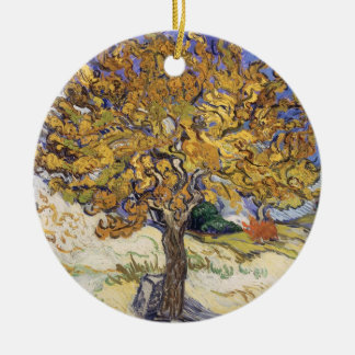 Vincent van Gogh | Mulberry Tree, 1889 Round Ceramic Decoration