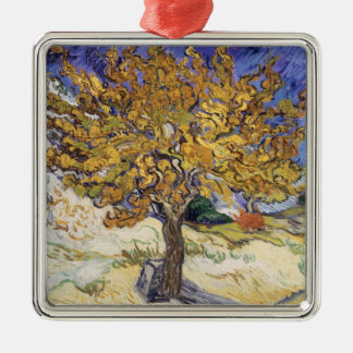 Vincent van Gogh | Mulberry Tree, 1889 Silver-Colored Square Decoration