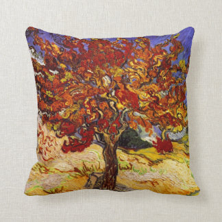 Vincent Van Gogh Mulberry Tree Fine Art Painting Cushion
