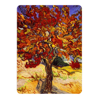 Vincent Van Gogh Mulberry Tree Fine Art Painting 14 Cm X 19 Cm Invitation Card
