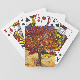 Vincent Van Gogh Mulberry Tree Fine Art Painting Poker Deck