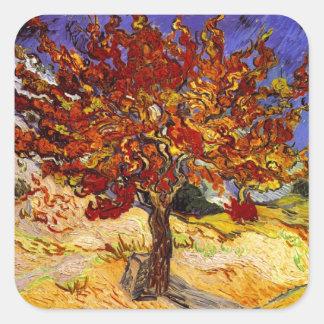 Vincent Van Gogh Mulberry Tree Fine Art Painting Square Sticker