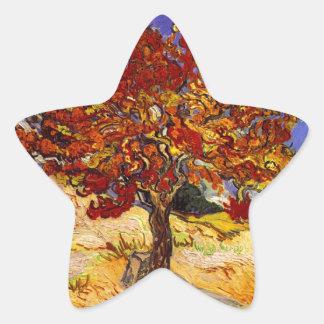 Vincent Van Gogh Mulberry Tree Fine Art Painting Star Sticker