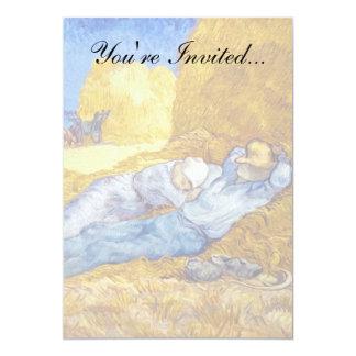 Vincent Van Gogh - Noon Rest From Work - Fine Art 13 Cm X 18 Cm Invitation Card