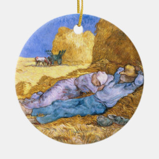 Vincent van Gogh | Noon, The Siesta, after Millet Christmas Ornament