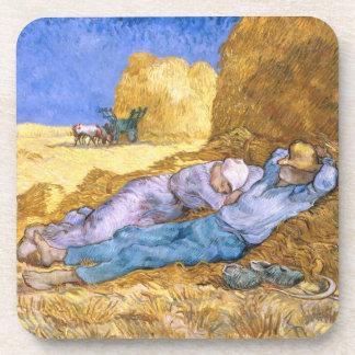 Vincent van Gogh   Noon, The Siesta, after Millet Coaster