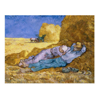 Vincent van Gogh | Noon, The Siesta, after Millet Postcard