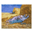 Vincent van Gogh | Noon, The Siesta, after Millet Poster