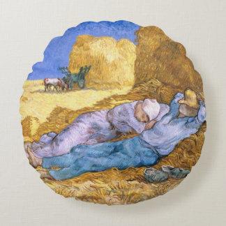 Vincent van Gogh | Noon, The Siesta, after Millet Round Cushion