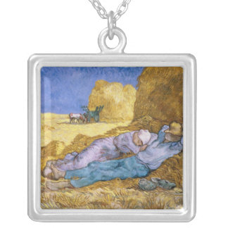 Vincent van Gogh | Noon, The Siesta, after Millet Silver Plated Necklace