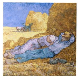 Vincent van Gogh | Noon, The Siesta, after Millet Tile