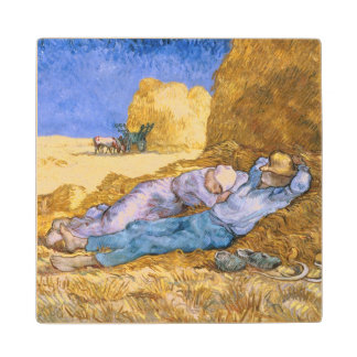 Vincent van Gogh | Noon, The Siesta, after Millet Wood Coaster