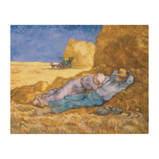 Vincent van Gogh | Noon, The Siesta, after Millet Wood Wall Art