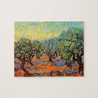 Vincent Van Gogh - Olive Grove with Orange Sky Jigsaw Puzzle