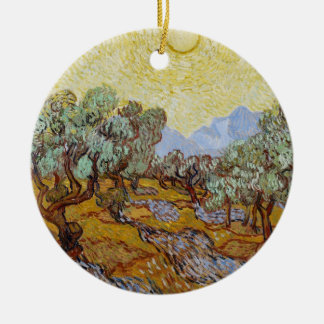 Vincent van Gogh | Olive Trees, 1889 Round Ceramic Decoration