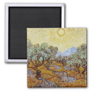 Vincent van Gogh   Olive Trees, 1889 Square Magnet