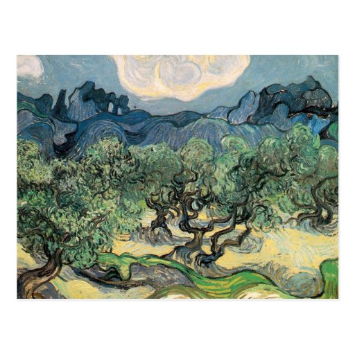 Vincent Van Gogh - Olive Trees with the Alpilles Post Card