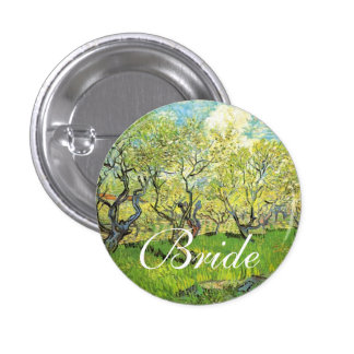 Vincent van Gogh,Orchard in Blossom Pinback Buttons