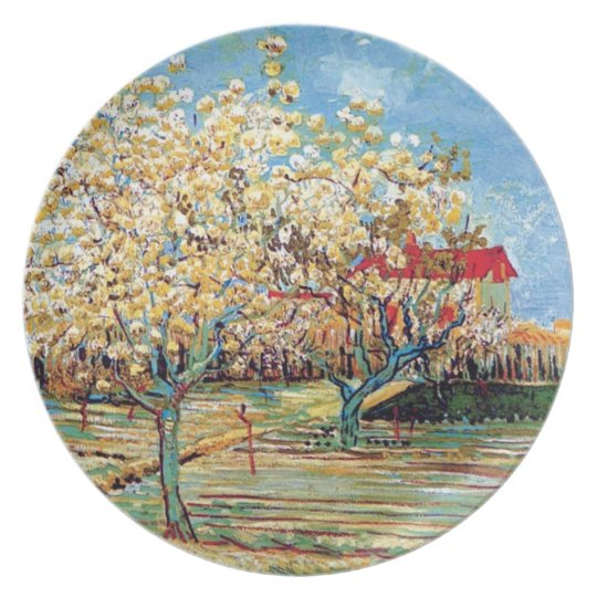 Vincent Van Gogh - Orchard In Blossom Fine Art Plate