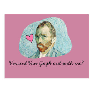 Vincent Van Gogh out with me card