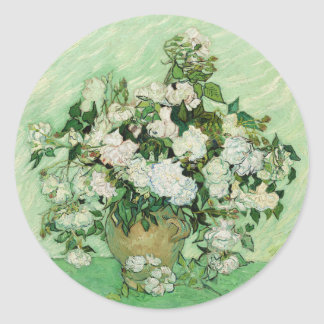 Vincent van Gogh Painting, Roses 1890 Round Sticker