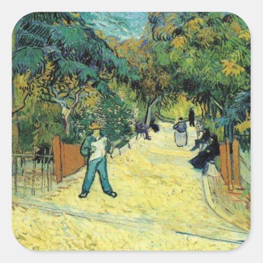 Vincent Van Gogh Painting Square Sticker