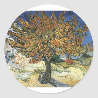 Vincent Van Gogh Painting: Van Gogh Mulberry Tree Round Sticker