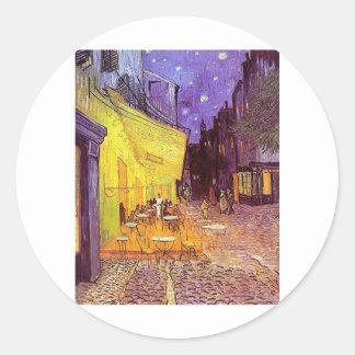 Vincent Van Gogh Paintings: Van Gogh Cafe Round Sticker