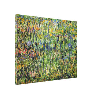 Vincent Van Gogh - Pasture In Bloom Fine Art Canvas Print