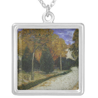 Vincent van Gogh | Path in the Park at Arles, 1888 Silver Plated Necklace