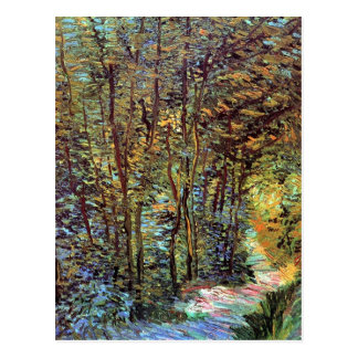 Vincent Van Gogh - Path In The Woods Fine Art Postcard