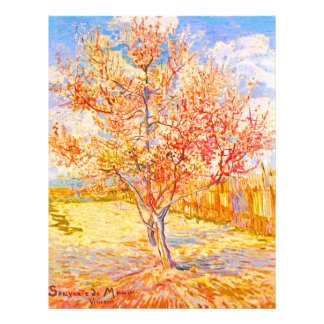 Vincent Van Gogh Peach Tree in Blossom Vintage Art 21.5 Cm X 28 Cm Flyer