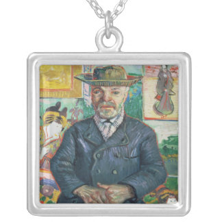 Vincent van Gogh | Pere Tanguy (Father Tanguy) Silver Plated Necklace