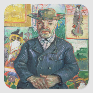 Vincent van Gogh | Pere Tanguy (Father Tanguy) Square Sticker