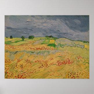 Vincent van Gogh   Plain at Auvers, 1890 Poster