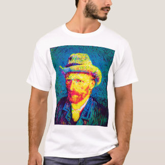 Vincent Van Gogh - Pop Art Self Portrait With Hat T-Shirt