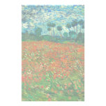 Vincent Van Gogh Poppy Field Floral Vintage Art Customised Stationery