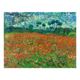 Vincent Van Gogh Poppy Field Floral Vintage Art 21.5 Cm X 28 Cm Flyer