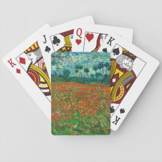 Vincent Van Gogh Poppy Field Floral Vintage Art Playing Cards