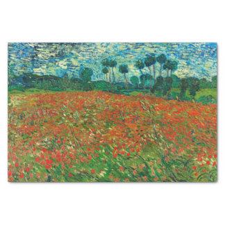 Vincent Van Gogh Poppy Field Floral Vintage Art Tissue Paper